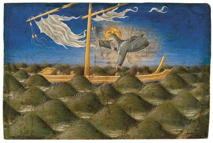 Giovanni di Paolo, Saint Clare Rescuing the Shipwrecked christie's auction 2019