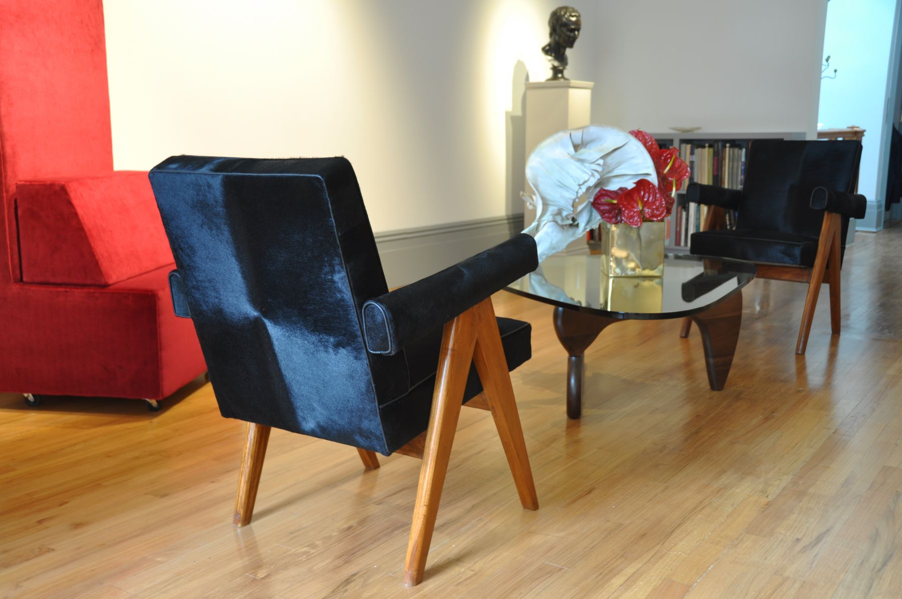 Nicholas Hall Art Gallery Old Masters Modern Furniture Francois Laffanour Installation Shot