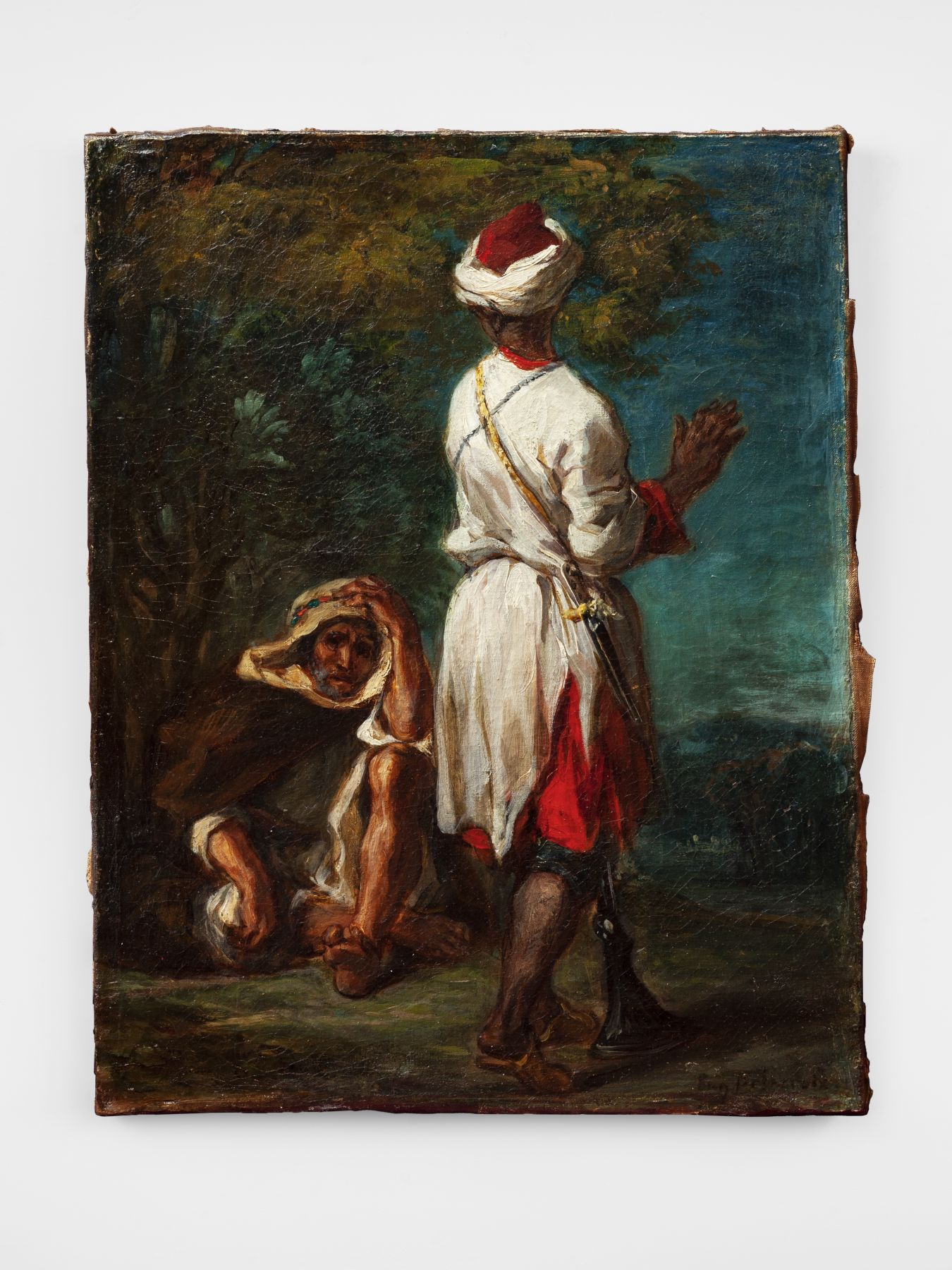 Eugène Delacroix (1798–1863) Two Moroccans Qatar Museums Nicholas Hall Art Gallery Dealer Old Masters