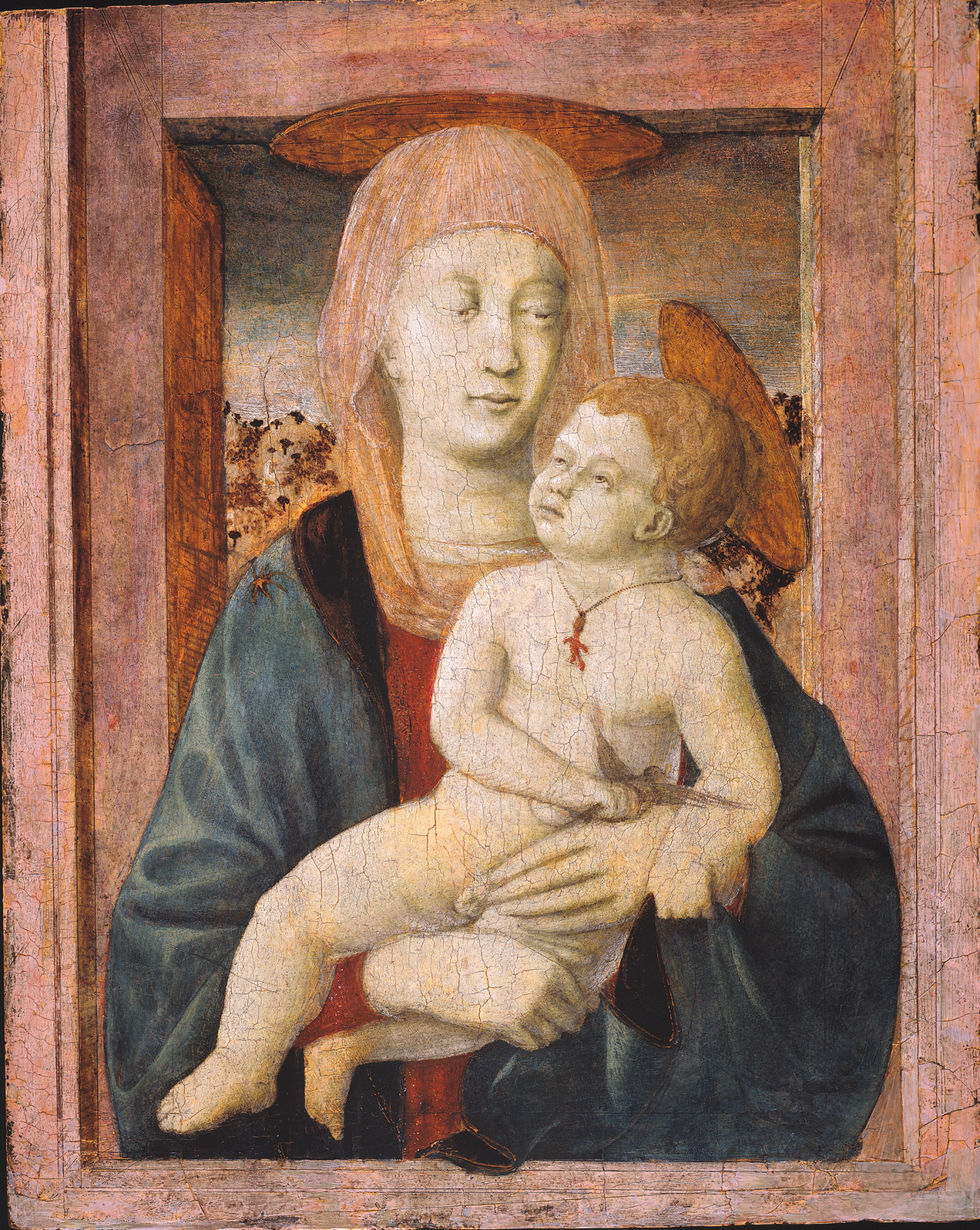 Piero della Francesca Madonna and Child Private Collection Nicholas Hall Art Gallery Dealer Old Masters