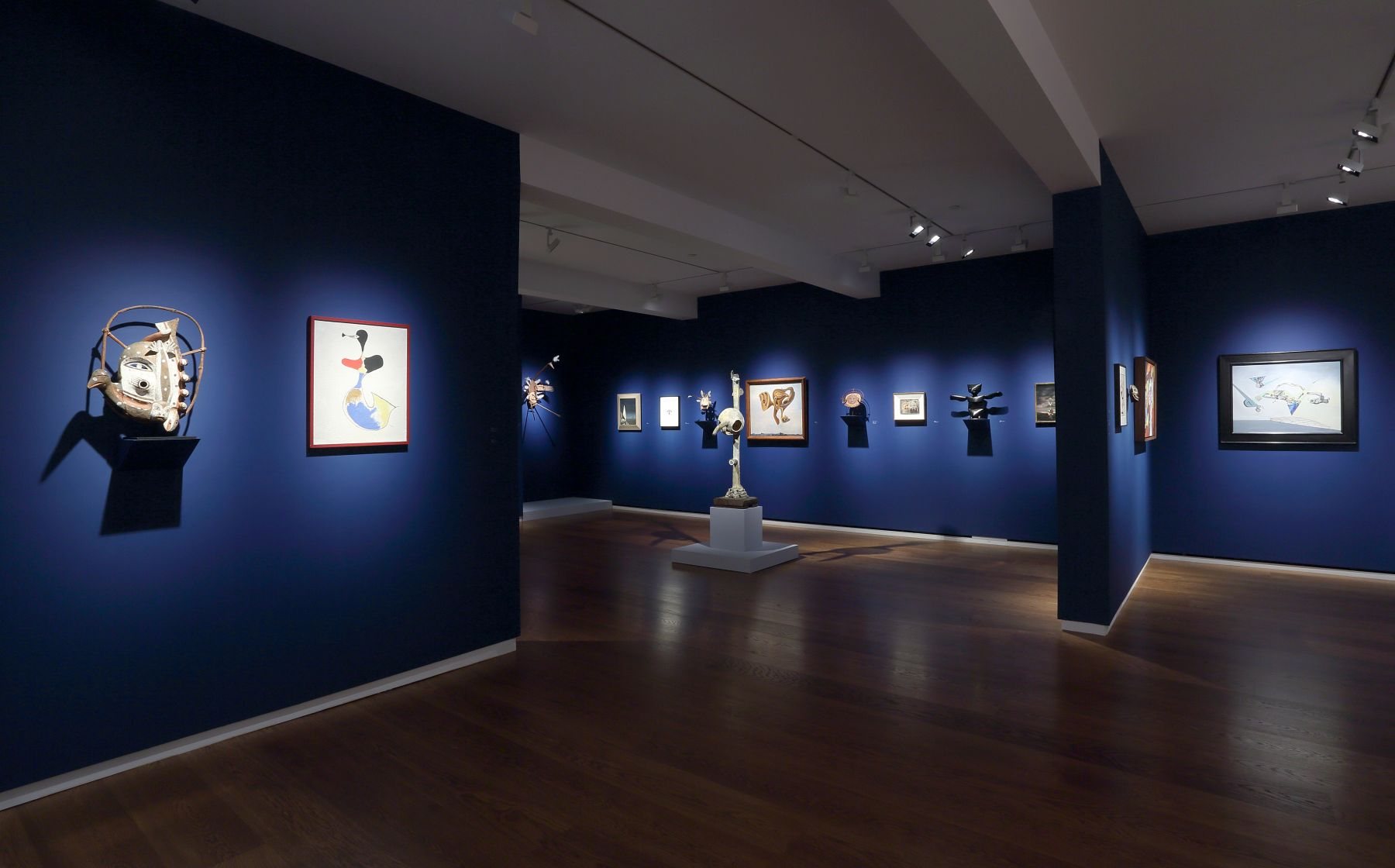 Moon Dancers: Yup'ik Masks and the Surrealists, Installation View