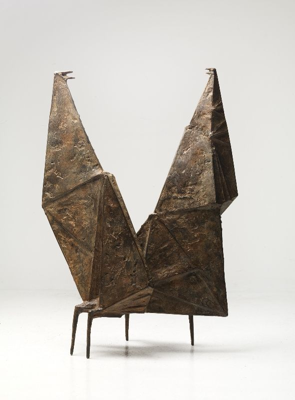 Lynn Chadwick, Conjunction II, 1957, Bronze, 86 by 59 by 31 cm (34 by 23 ¼ by 12 ¼ in.)