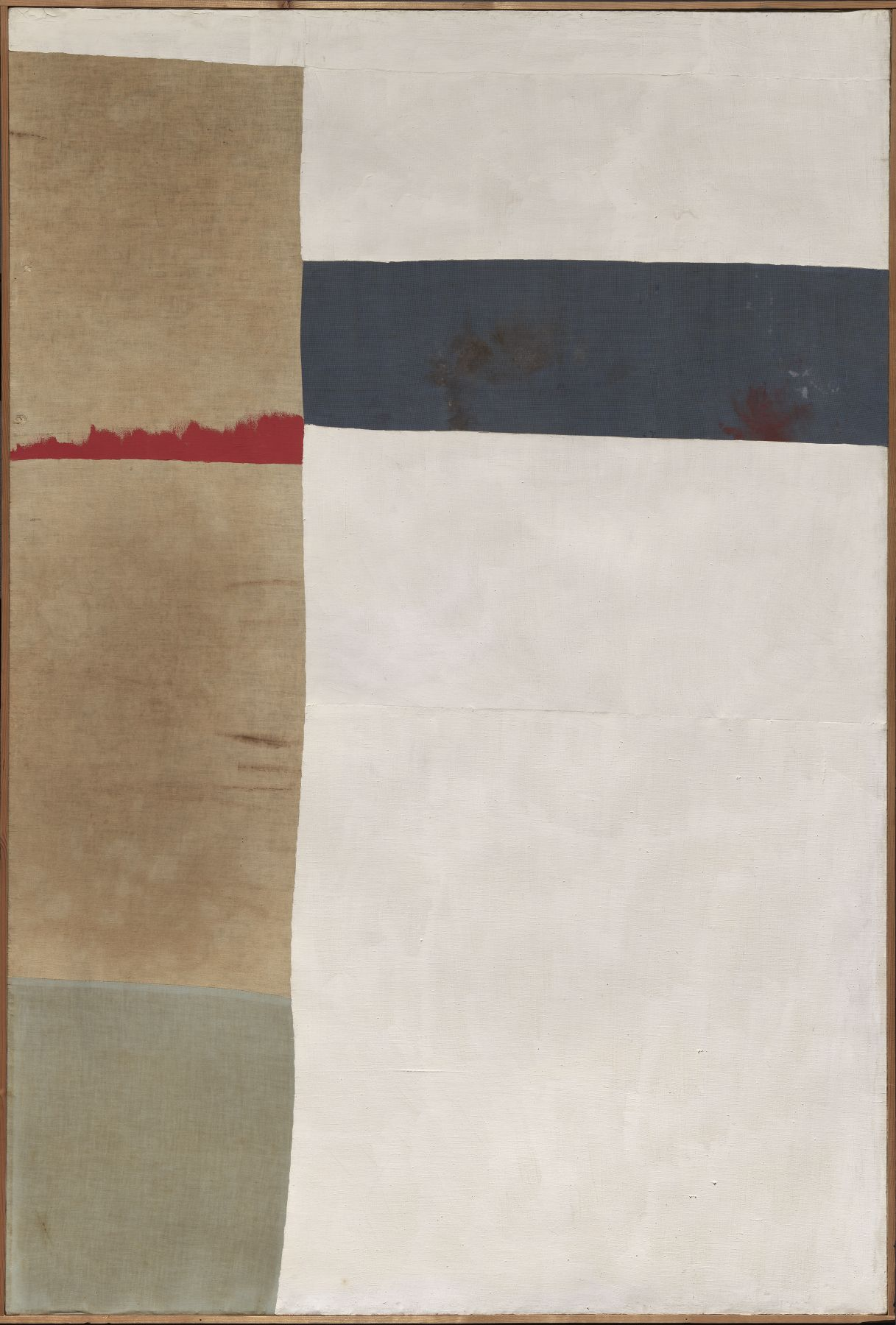 Nuvolo (Giorgio Ascani). Composition. 1957. Oil and fabric on canvas, 171.5 by 116 cm (67½ by 45⅝ in.). Museum of Fine Arts, Boston. Gift of Mrs. Peggy Guggenheim.