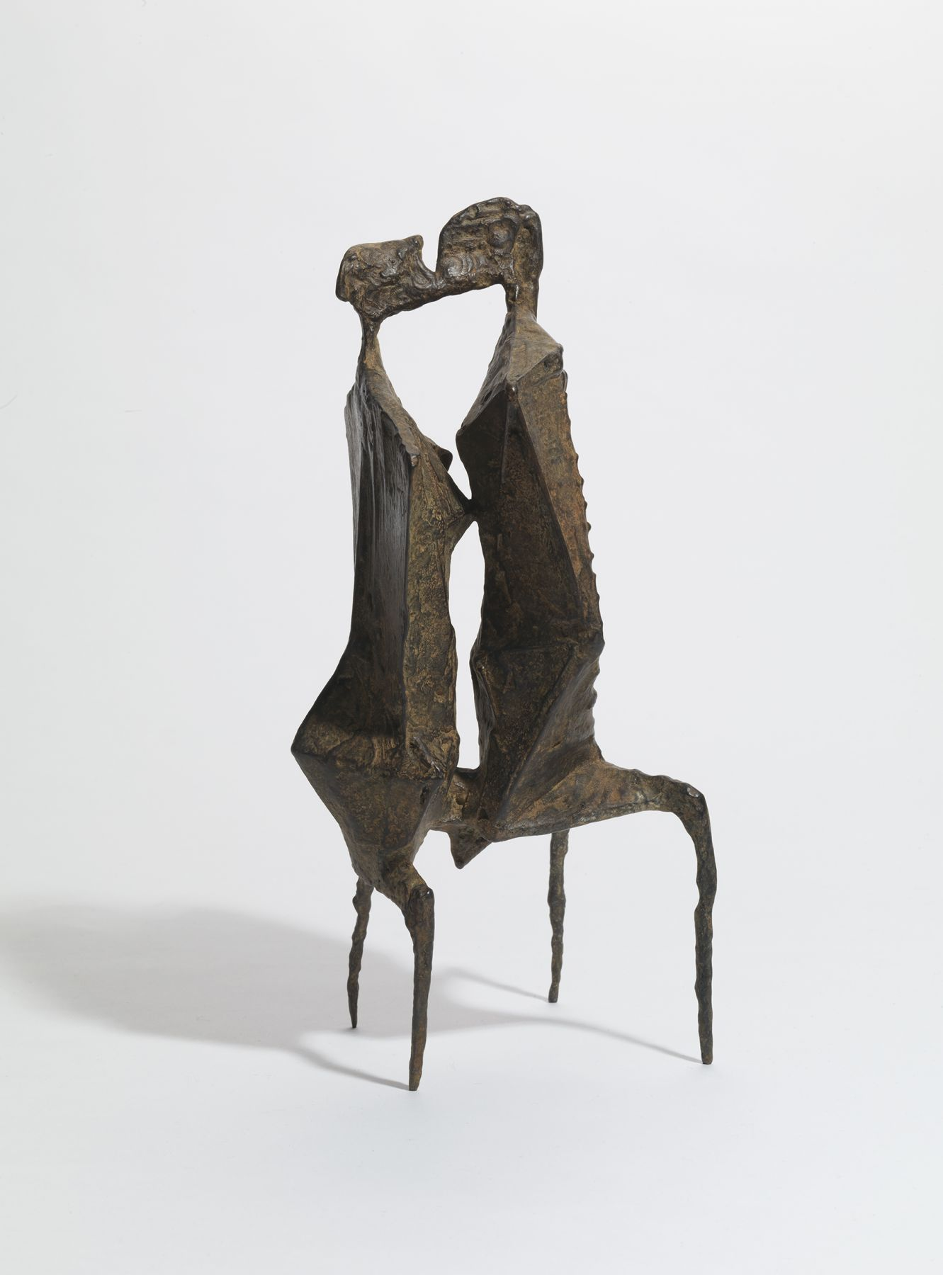 Lynn Chadwick, Two Figures, 1954,  Bronze, 31 by 14 by 15 cm (12 ¼ by 5 ½ by 5 ⅞ in.)