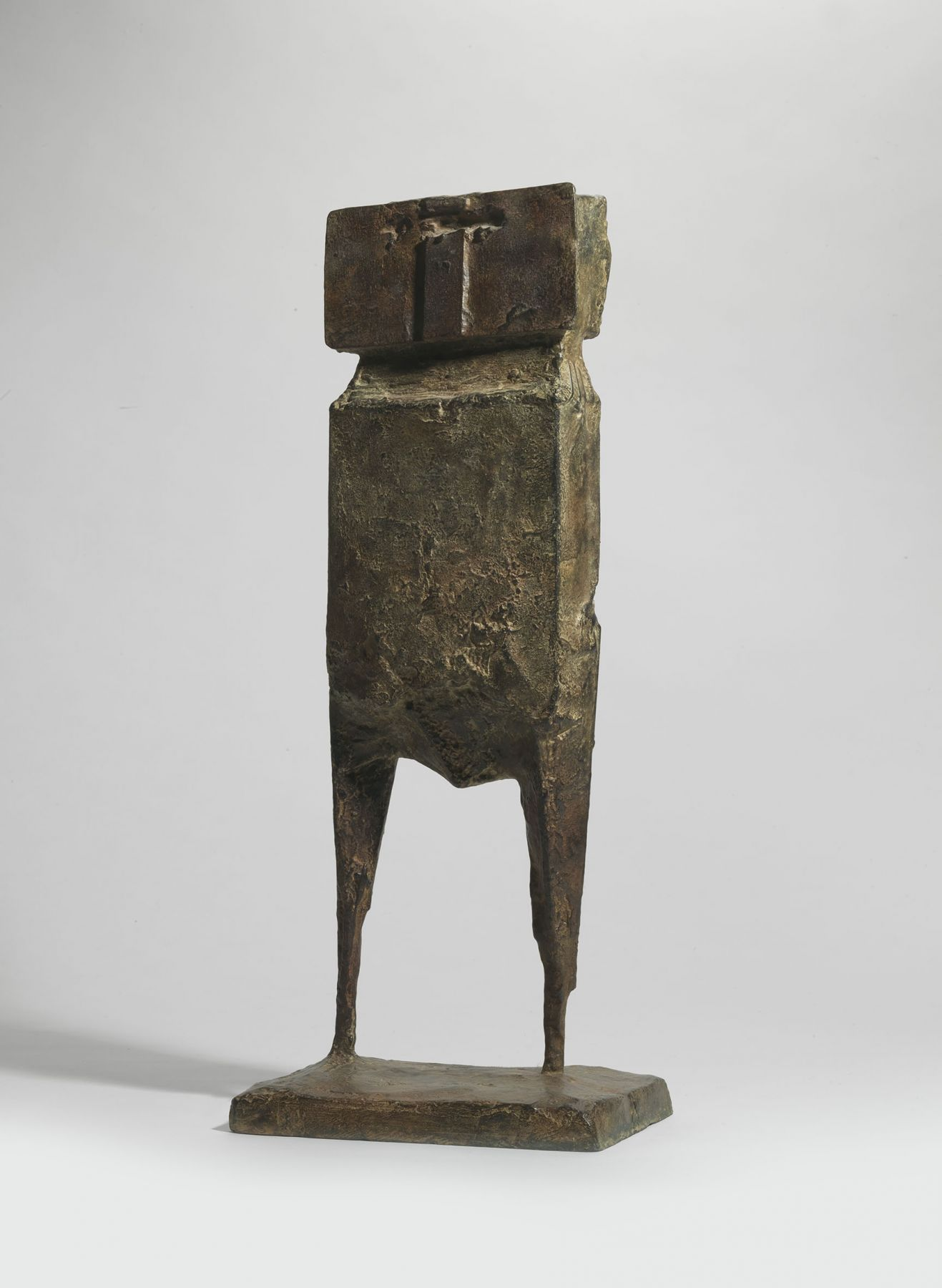 Lynn Chadwick, Aga Cant - Old Watcher, 1959, Bronze ,58 by 24 by 16.5 cm (23 by 9 ½ by 6 ½ in.)