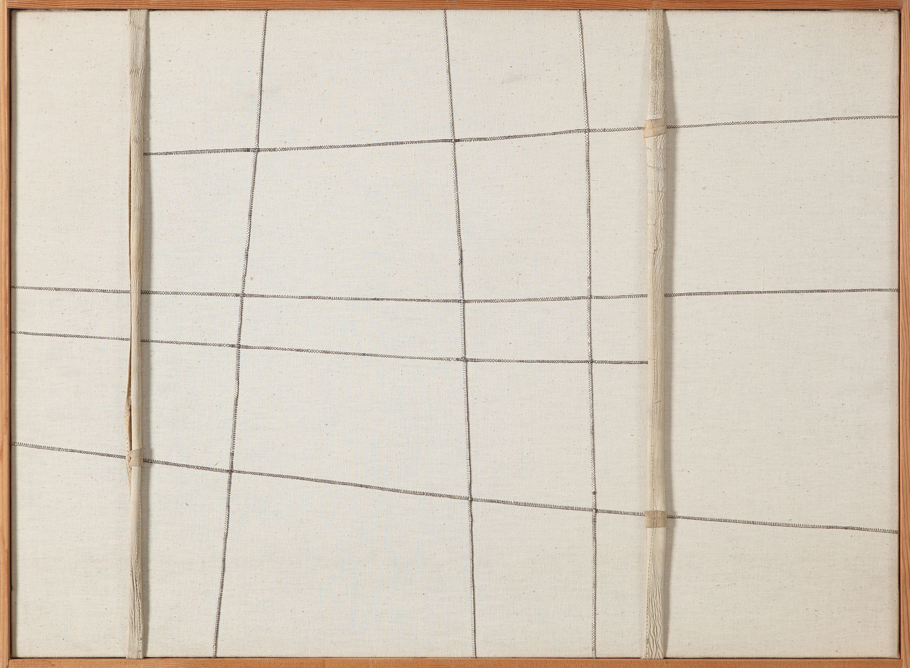 Nuvolo (Giorgio Ascani). Untitled. 1962. Sewn canvas and deerskin, 63.5 by 88 cm (25 by 34⅝ in.)