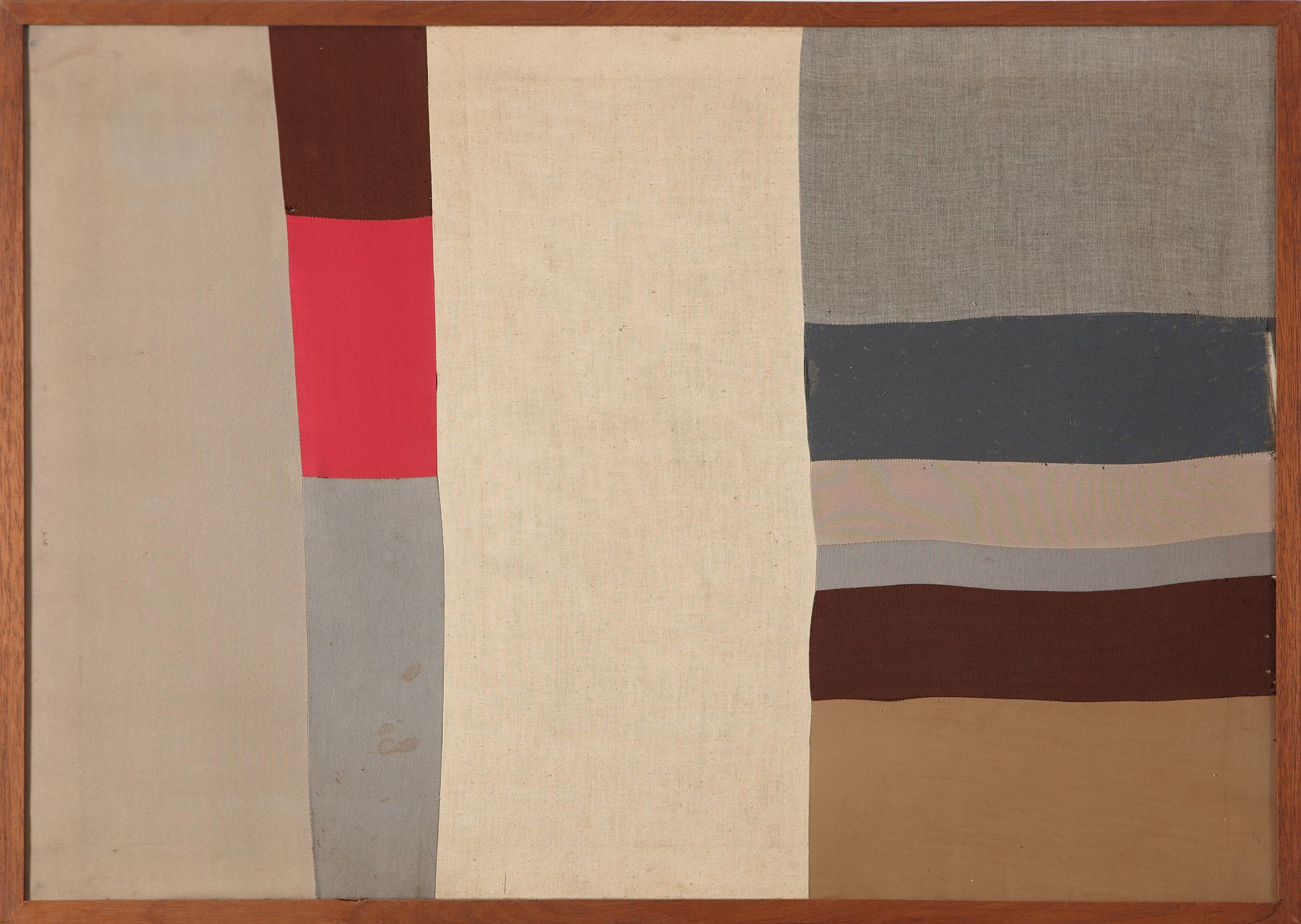 Nuvolo (Giorgio Ascani). Untitled. 1959. Painted and sewn canvas, 71 by 100 cm (28 by 39⅜ in.)
