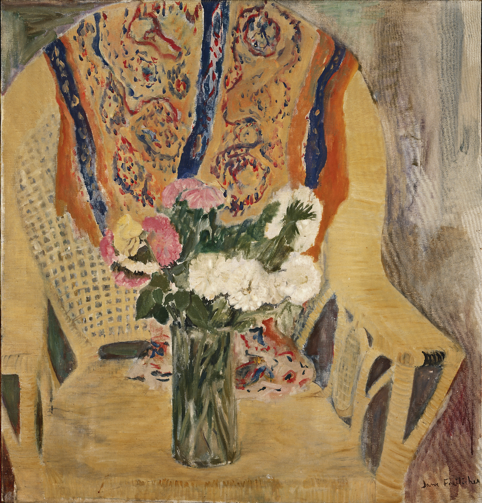Flowers in Armchair