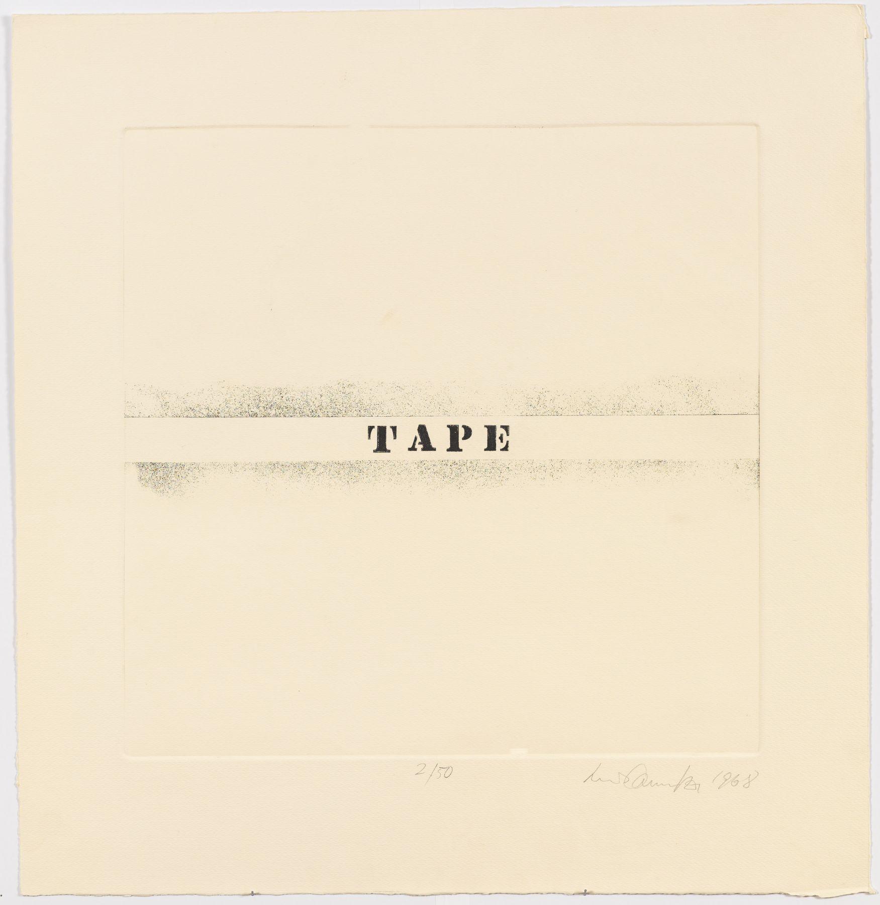 Luis Camnitzer, Tape, 1968