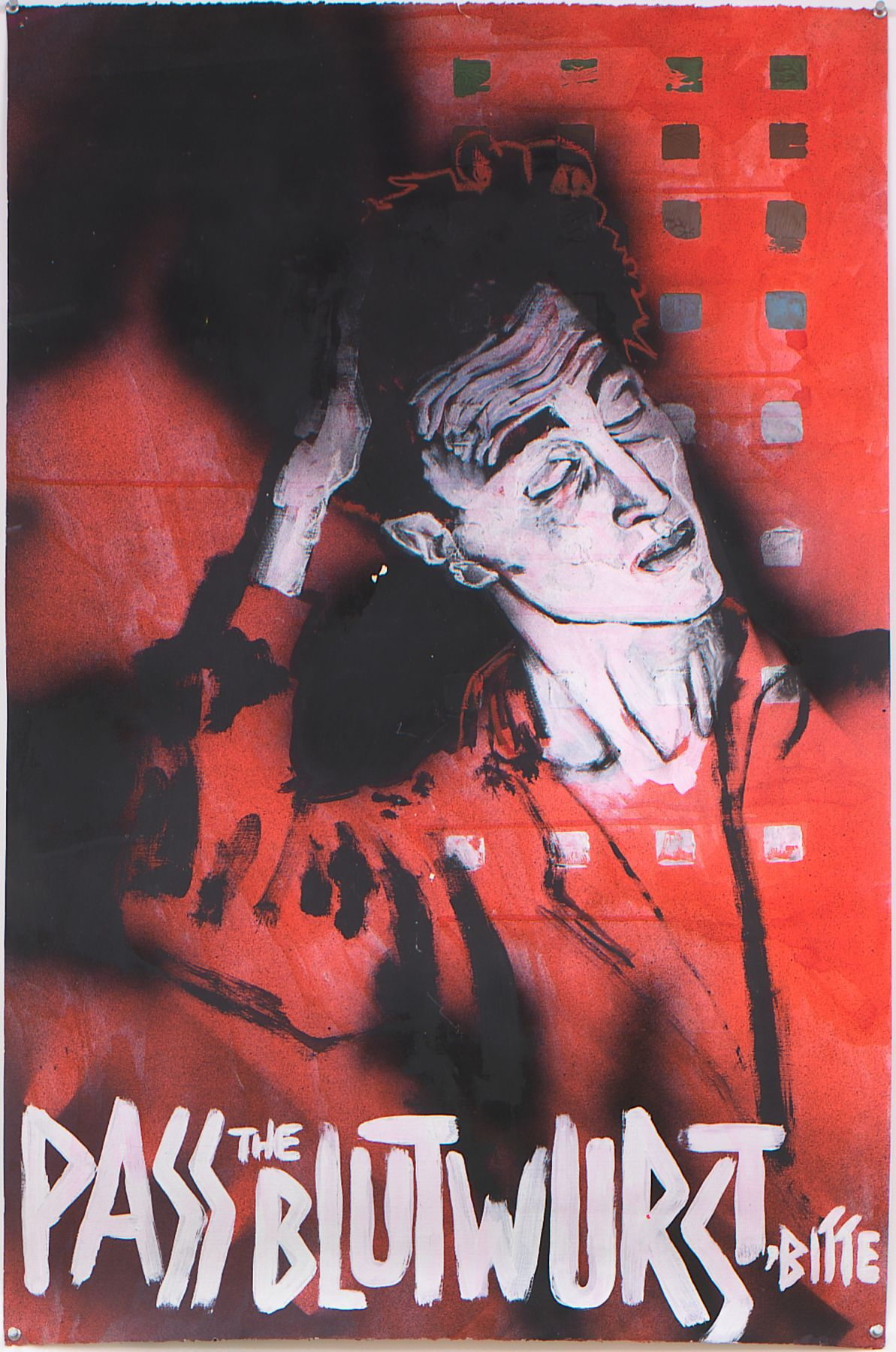 Self Portrait as Egon Schiele, 1984, Acrylic with mixed media on paper