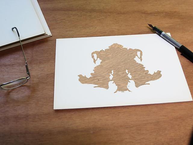 Luis Camnitzer; Rorschach Series, Rorschach 4 (2012)