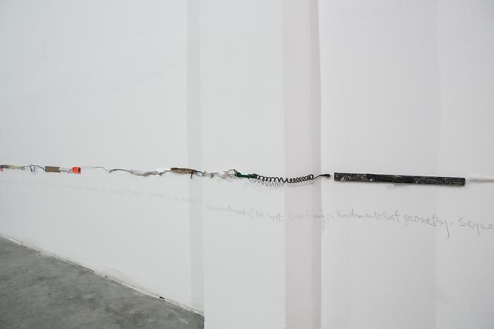 Luis Camnitzer, Two Parallel Lines (1976-2010), installation view, Satellite, Dubai (2013)