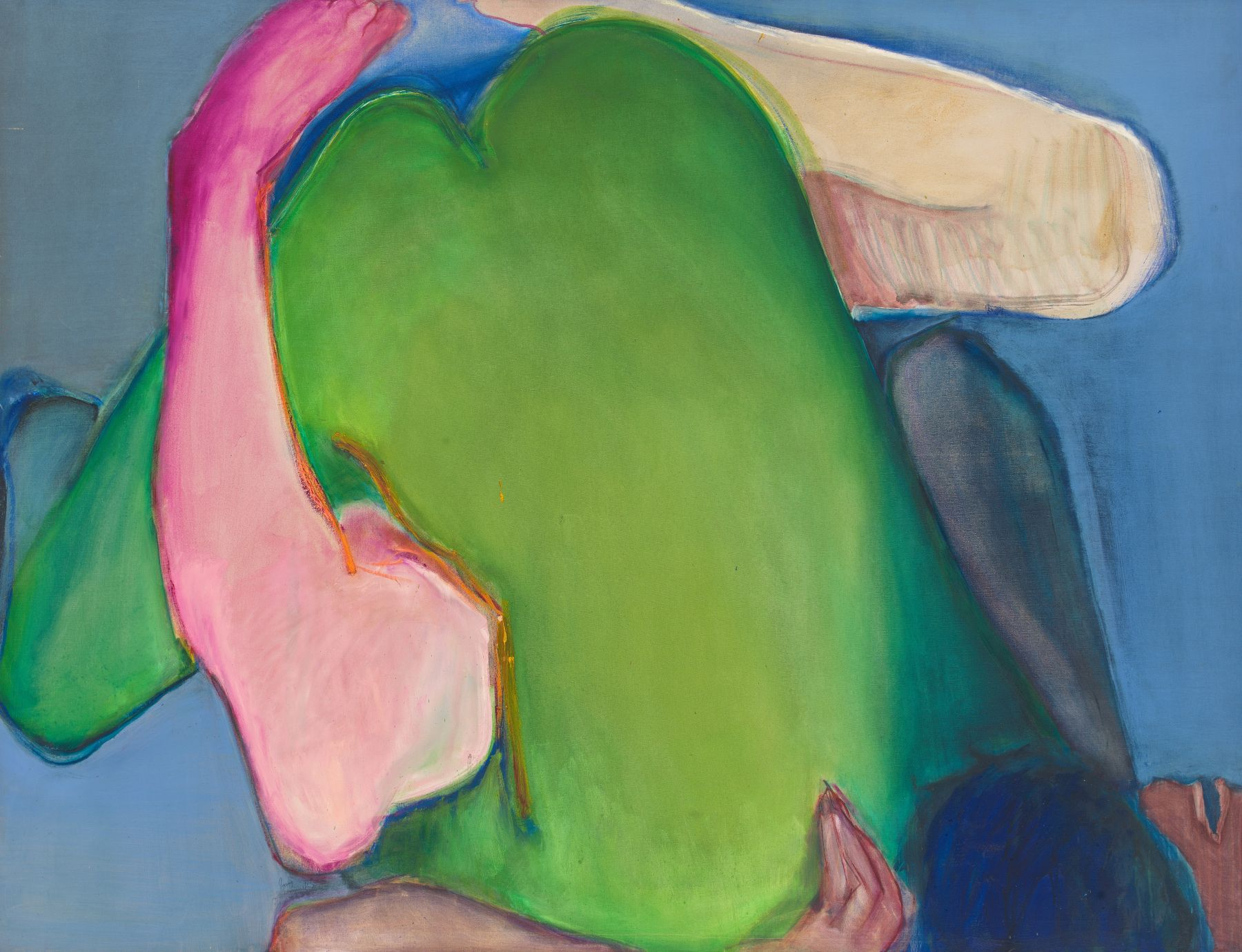Green Heart, 1971, Oil On Canvas