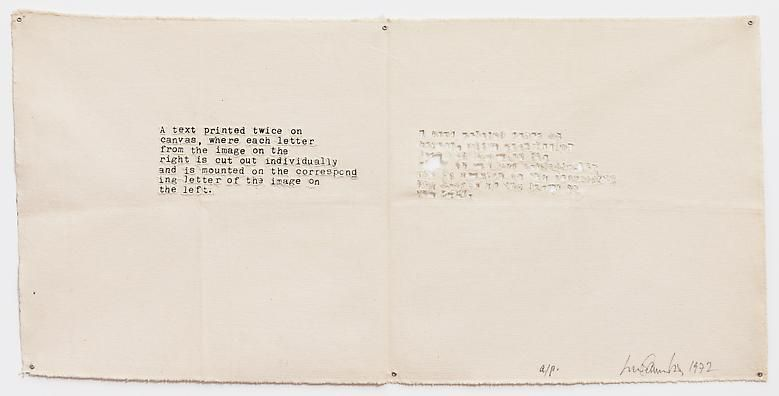 Luis Camnitzer A Text Printed Twice on Canvas, 1972