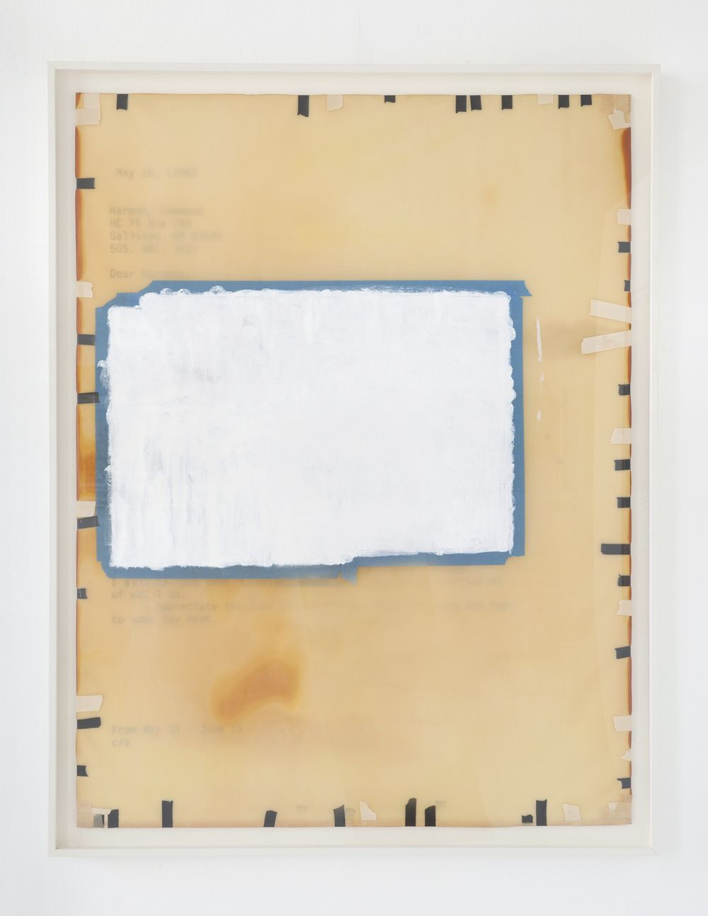 Erasure #2, 2002, Mixed media