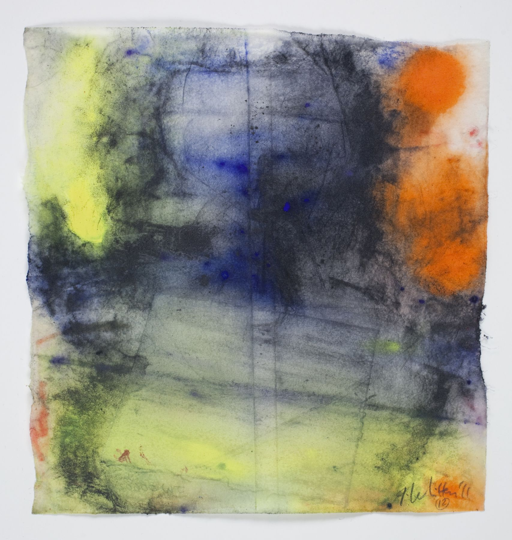 Saturation #12, 2011, Mixed Media On Paper