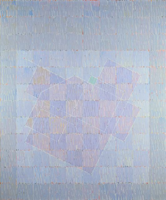 Knight Series #1 (Q3-75-#2), 1975, Oil on canvas