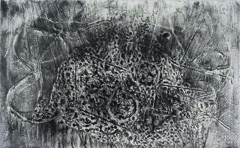 Jack Whitten, Feedback Loops II (The Curse of Ivan Mestrovic) (2013)