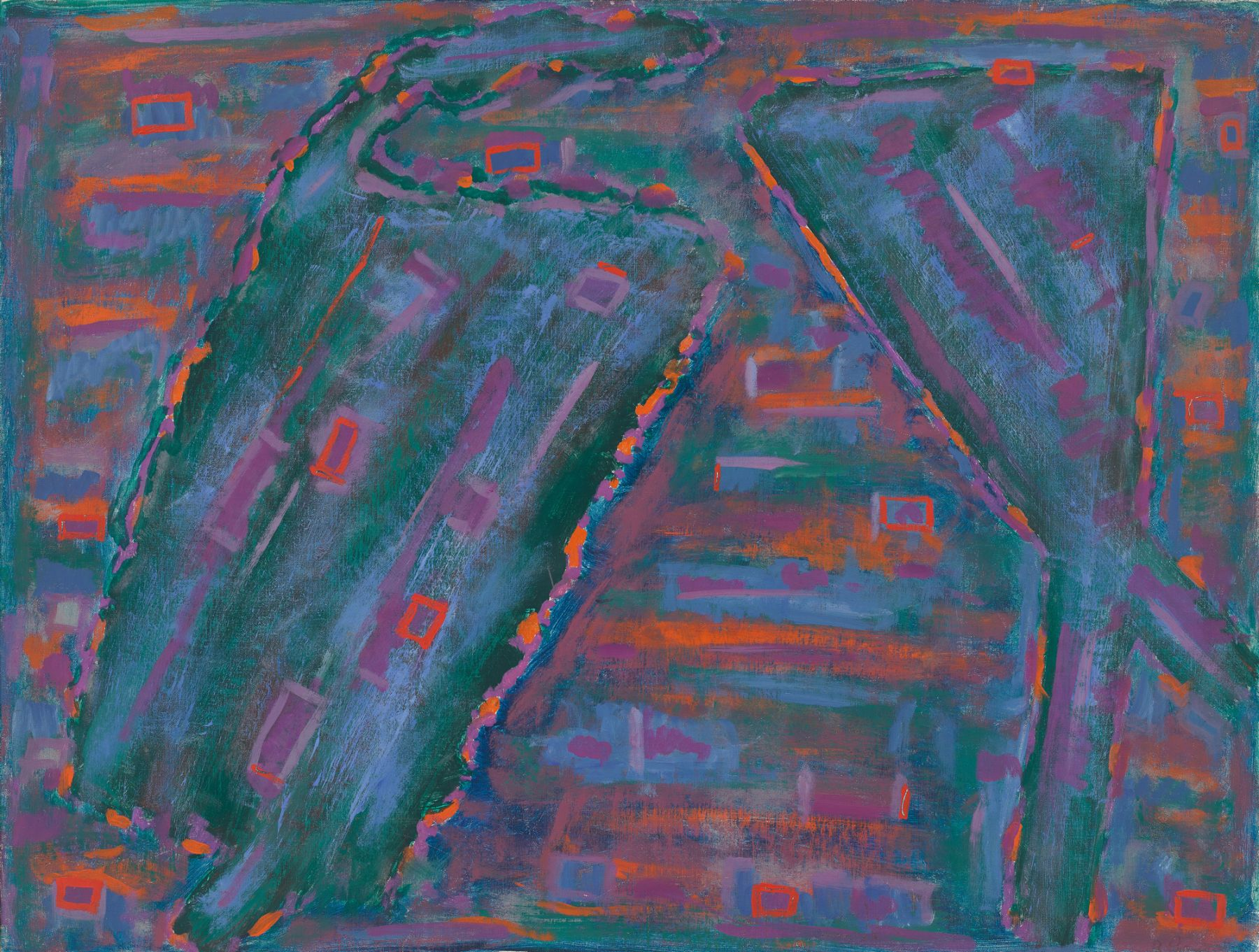 Betty Parsons, Blue Field, 1957