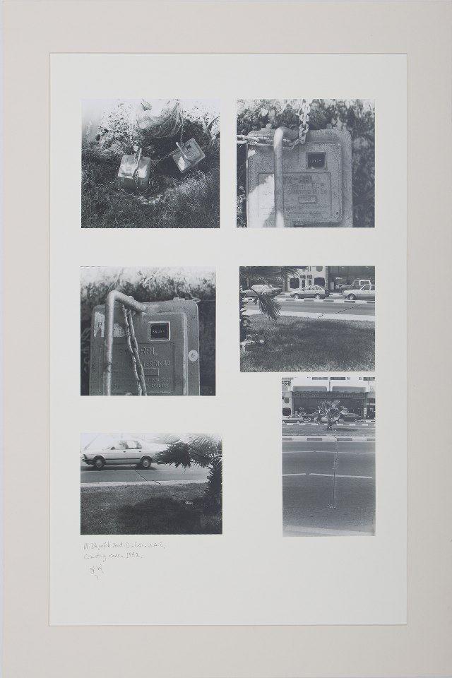 Counting Cars in Al Dhiyafah Road- Dubai, 1982, Photographs mounted on cardboard