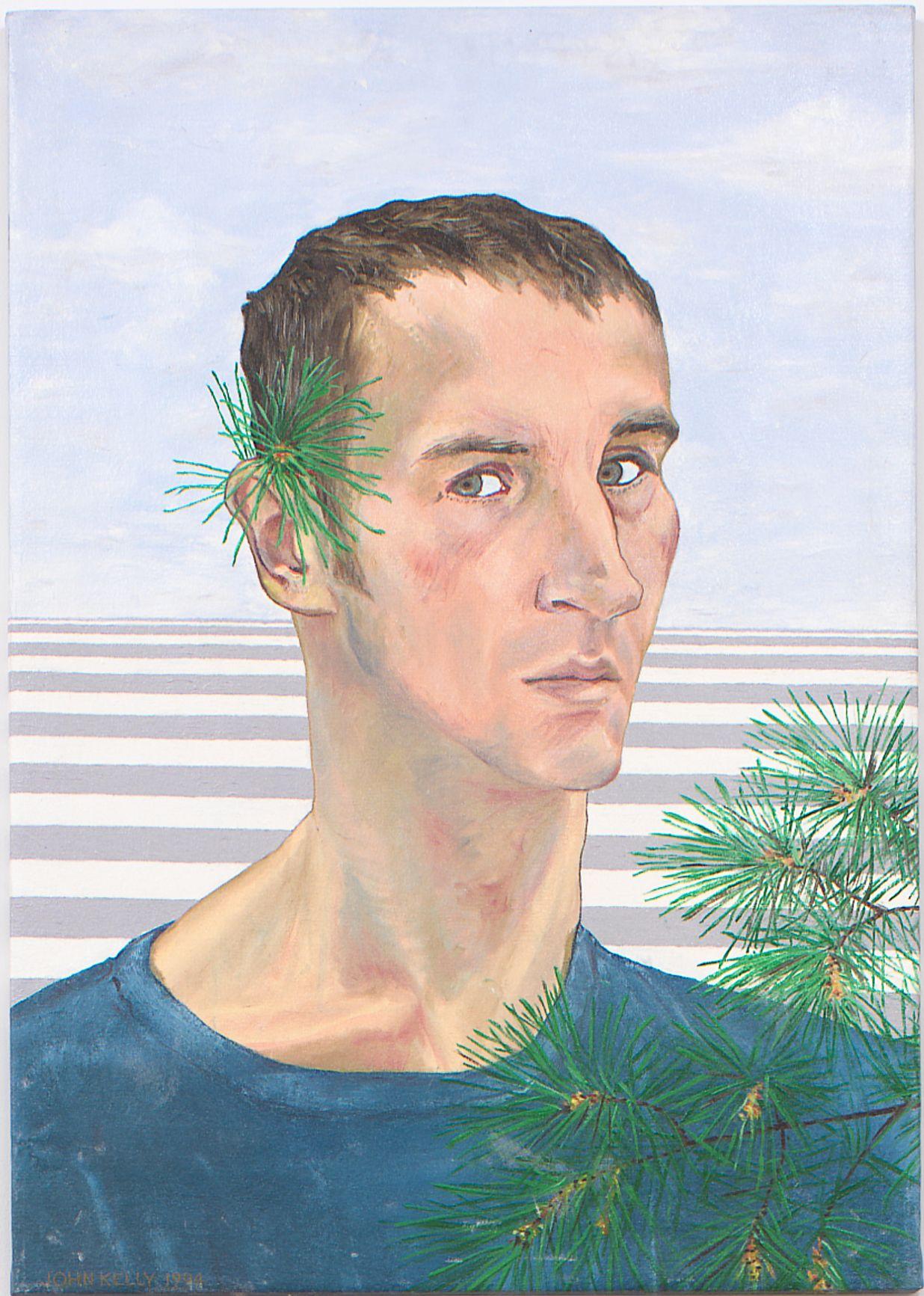 Self Portrait with Fir, 1994, Oil On Canvas