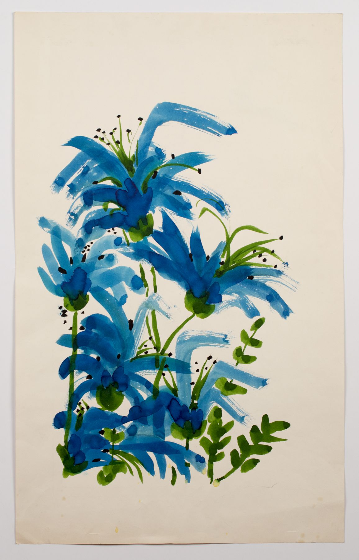 "Wild Lillies, from the ""Florals"" series [024], c. 1973, Watercolor On Paper"