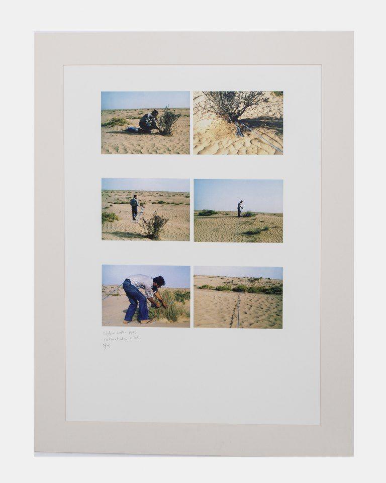 Nylon Rope, 1983, Photographs mounted on cardboard