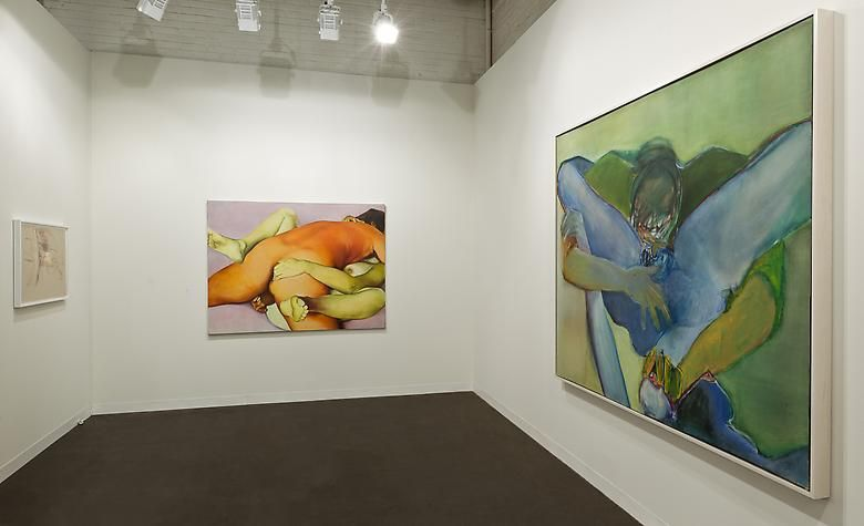 Center: Indian Erotic (1973); Right: Untitled (1971)