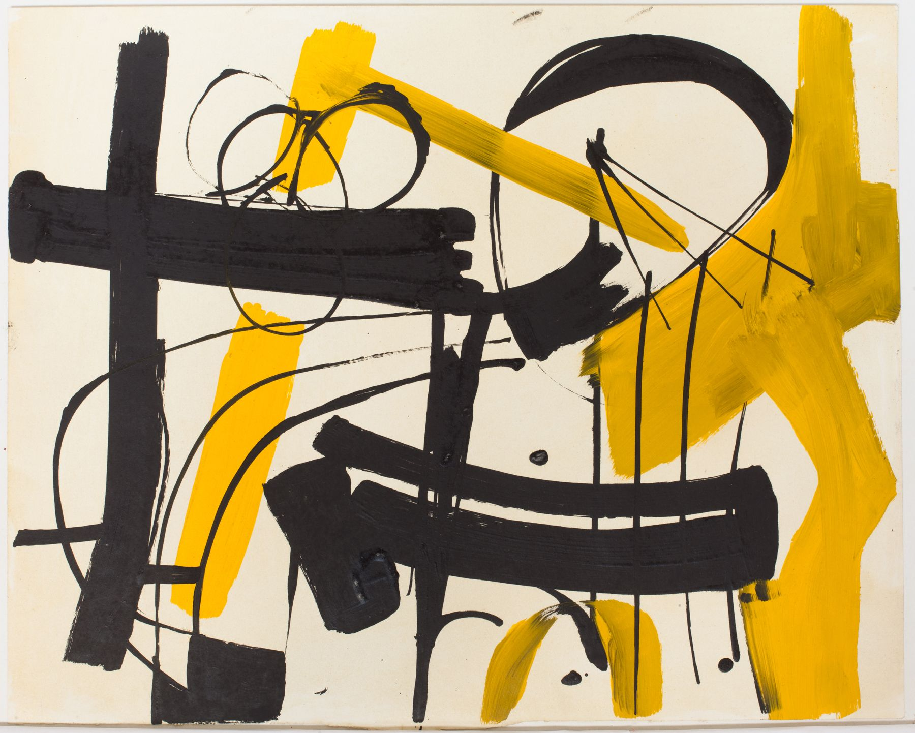 Untitled (Abstract Composition), c. 1948, Oil on paper