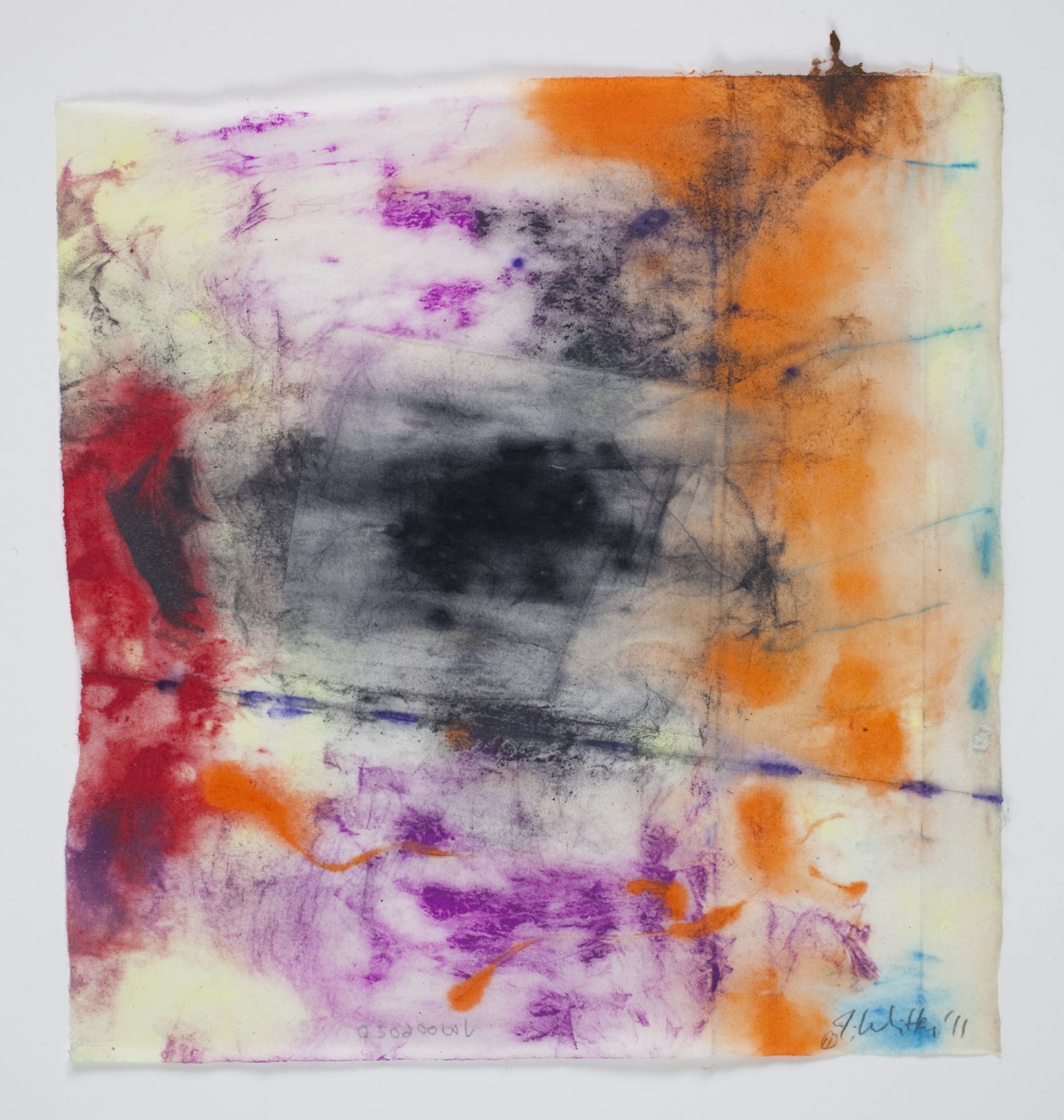 Saturation #20, 2011, Mixed Media On Paper