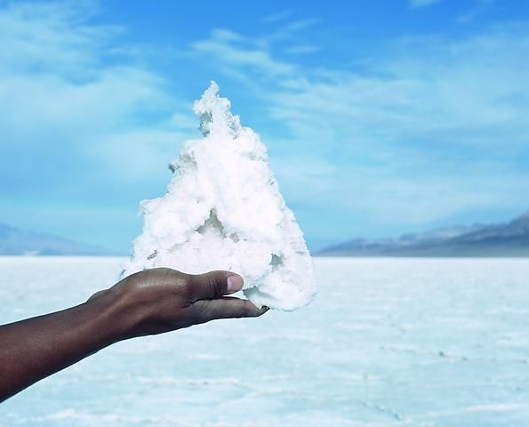 Proposition 2, Mountain, Badwater, Death Valley, California (temporary sculptural installation)  (2007)