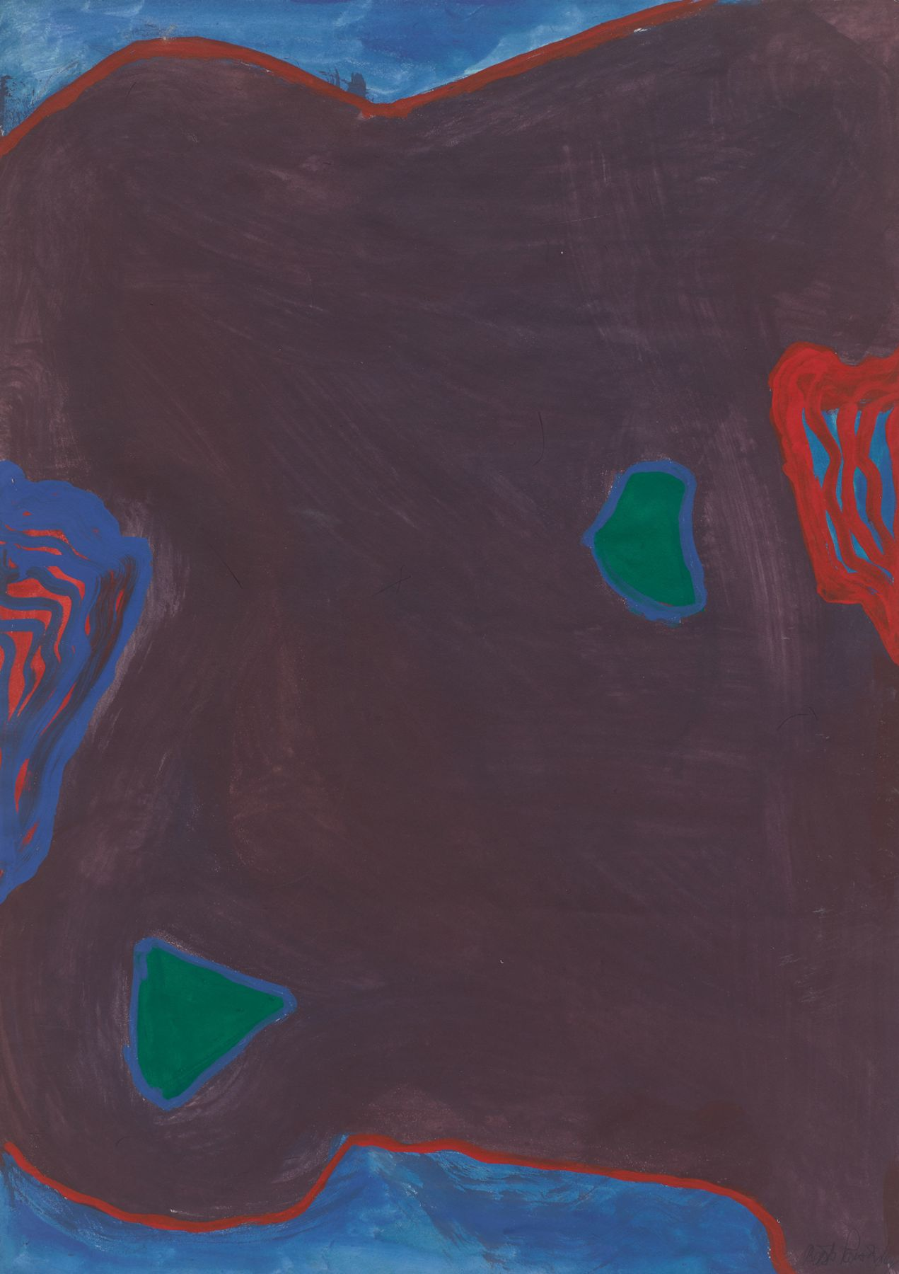 Untitled, 1964, Gouache on paper