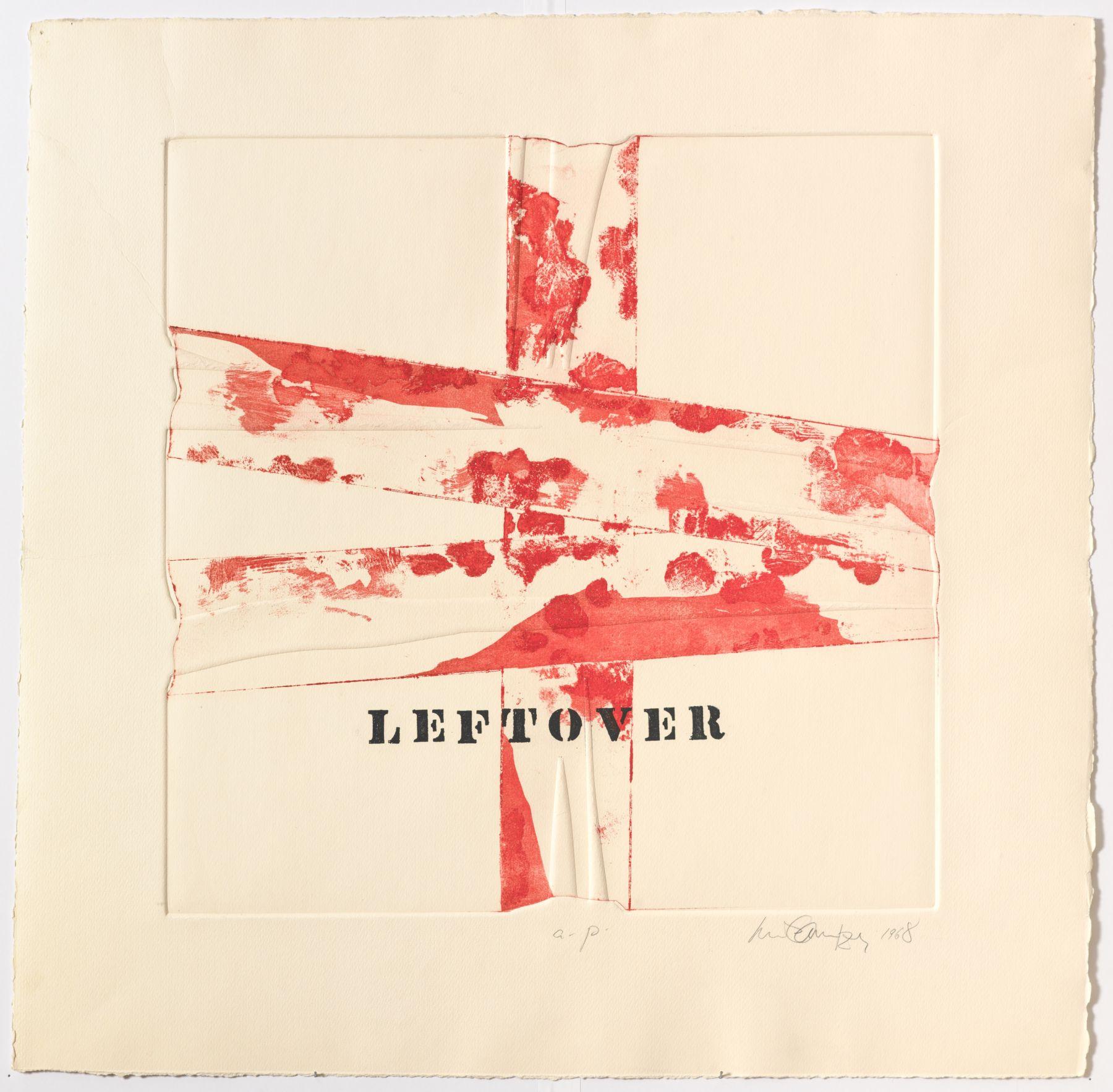 Luis Camnitzer, Leftover, 1968