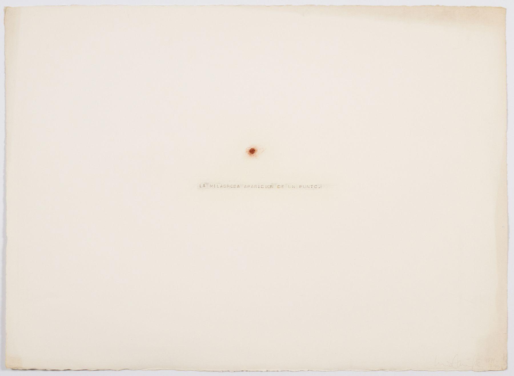 Luis Camnitzer, La Milagrosa Aparicion de un Punto, 1971-73