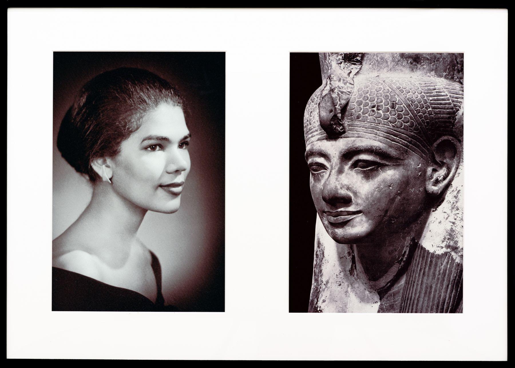 Miscegenated Family Album (Sisters IV), L: Devonia's sister, Lorraine; R: Nefertiti's sister, Mutnedjmet, 1980/1994, Cibachrome print, 26h x 37w in (66.04h x 93.98w cm)