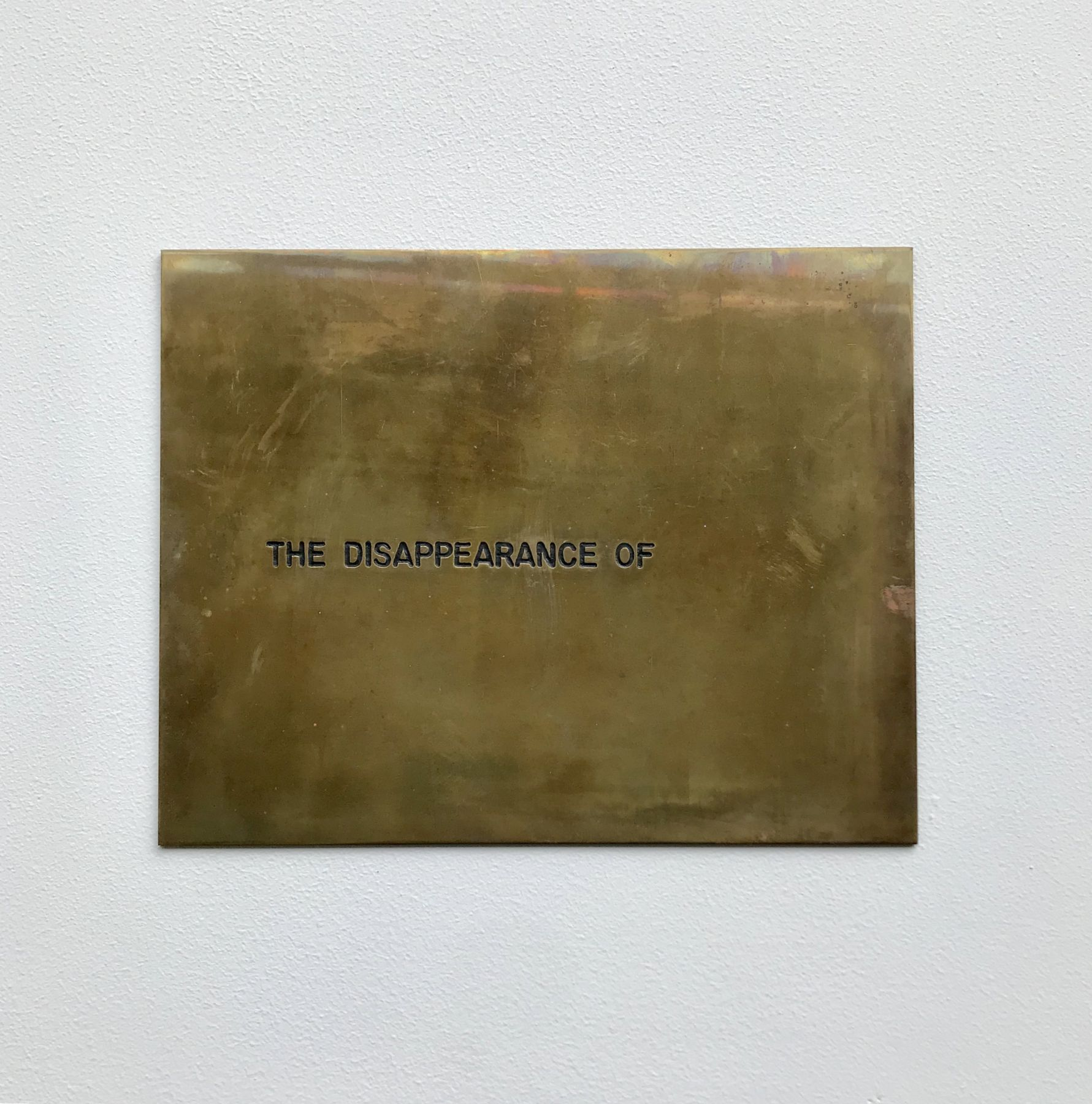Luis Camnitzer, The Disappearance of..., 1971-1973