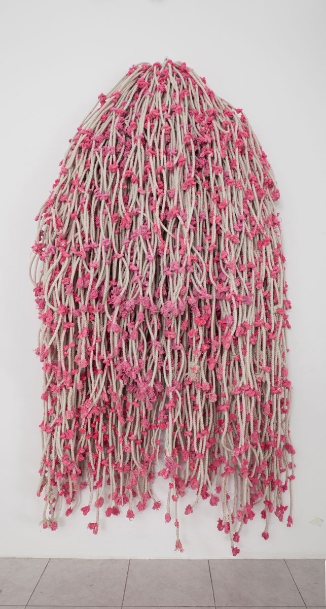 Pink Knots, 2015 Cotton rope and acrylic
