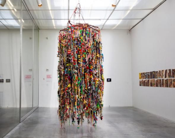 Hassan Sharif; Suspended objects (2011), mixed media