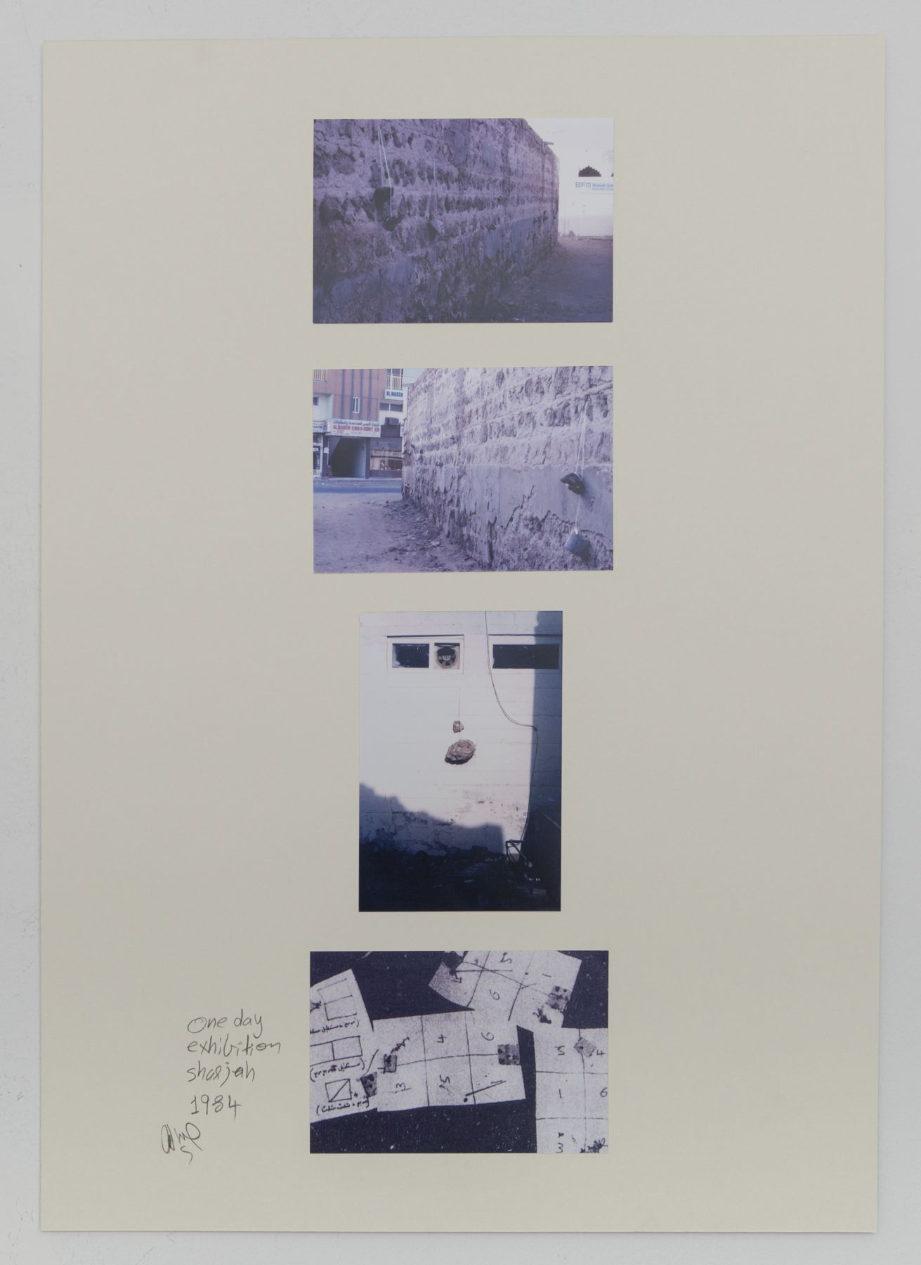 Hassan Sharif, One Day Exhibition-Sharjah, 1984