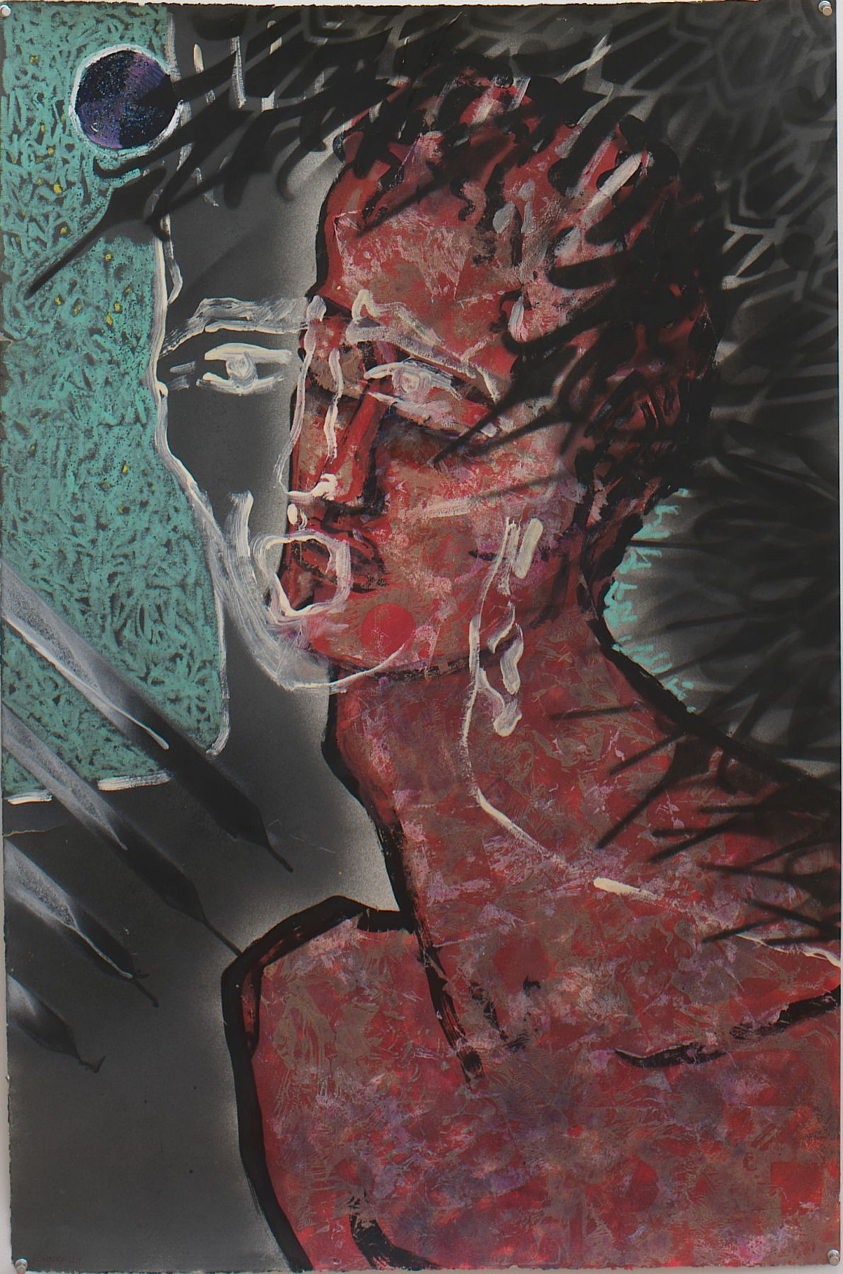 Untitled, 1983, Acrylic with mixed media on paper