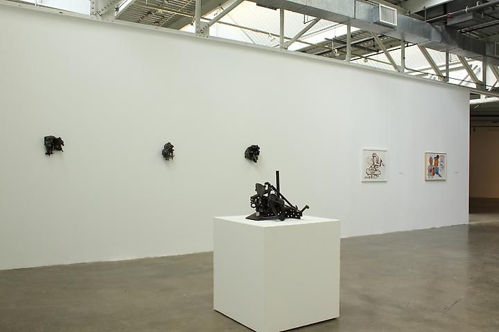 Melvin Edwards, Installation view with Peter Saul (far right), Atlanta Contemporary Art Center (2011)