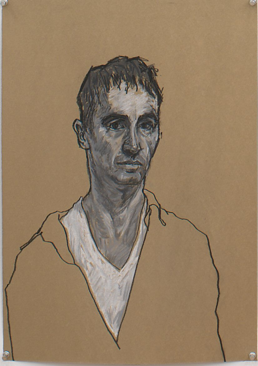 Untitled VIIII (from Black and White Series), 1996, Pastel on Paper