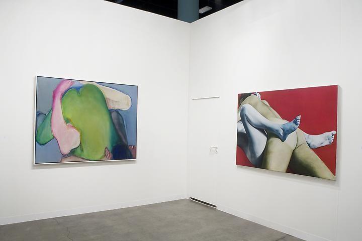 Joan Semmel: Green Heart (1971); Red White and Blue (1973)