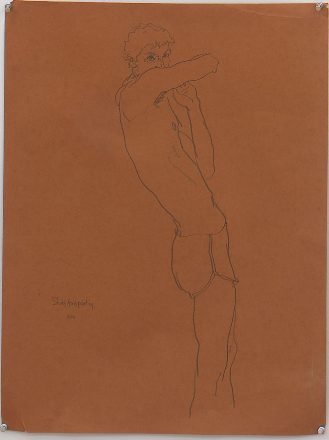 Study for Unfinished Painting, 1980, Pencil on paper