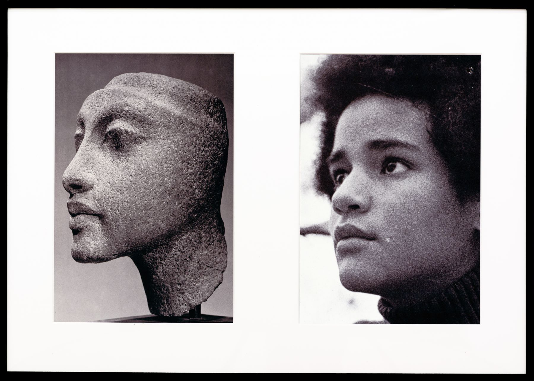 Miscegenated Family Album (Sisters III), L: Nefertiti's daughter, Maketaten; R: Devonia's daughter, Kimberley, 1980/1994, Cibachrome print, 26h x 37w in (66.04h x 93.98w cm)