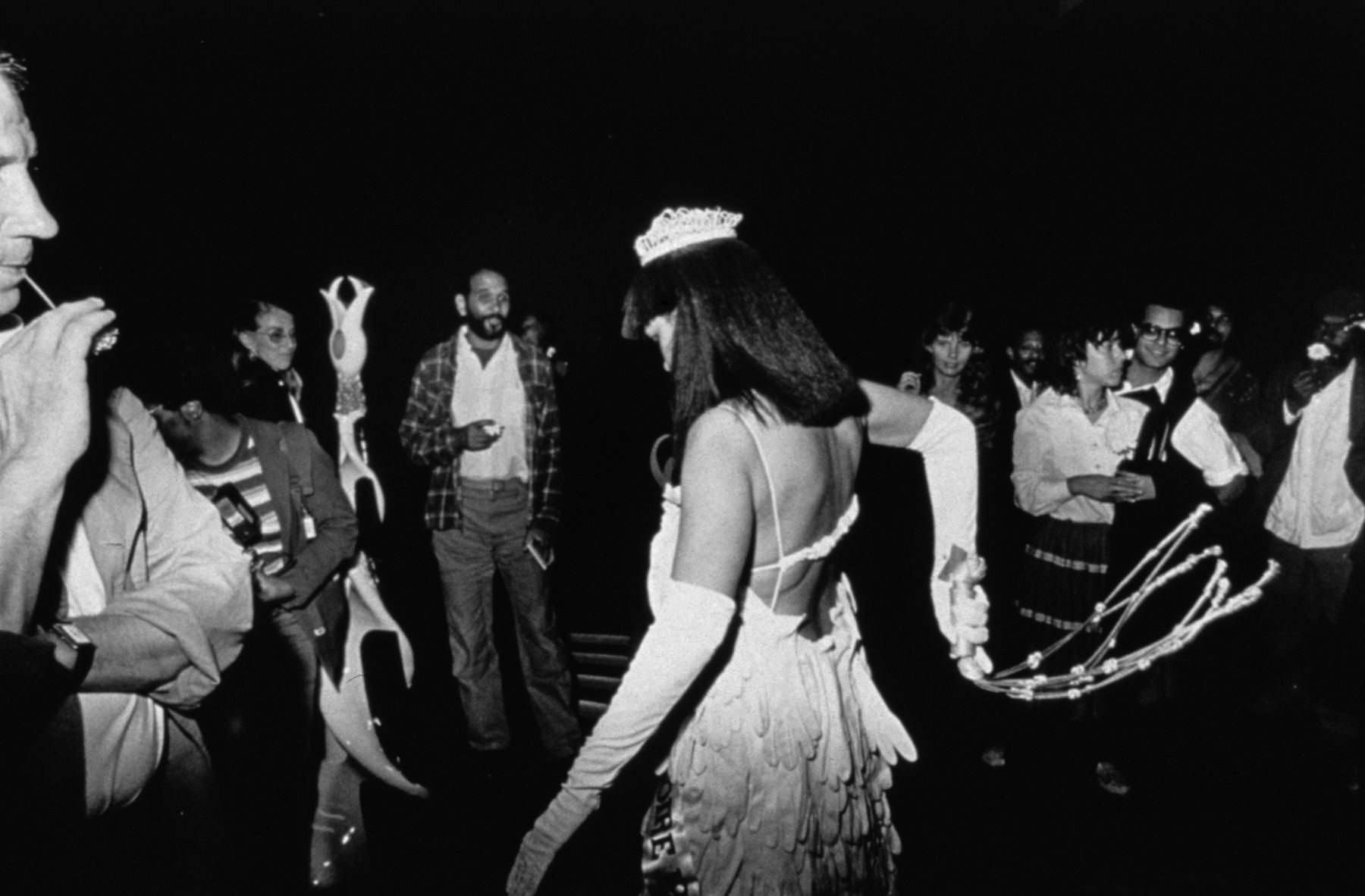 Untitled (Crowd Watches Mlle Bourgeoise Noire Whipping Herself), 1980-83/2009, Silver gelatin fiber print
