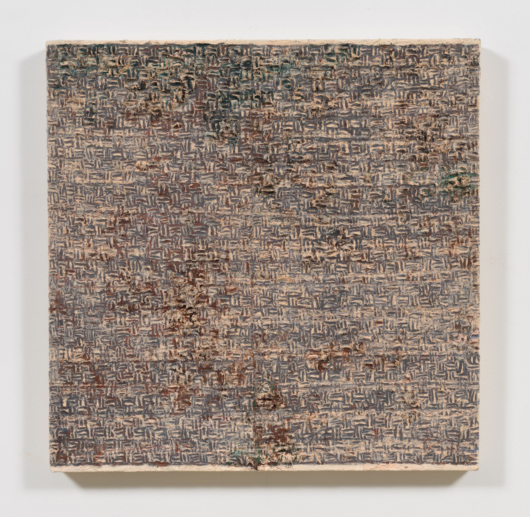 Pink Weave, 1975, Oil and Dorland's wax on canvas