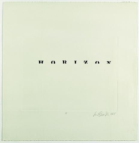 Luis Camnitzer, Horizon (1968)