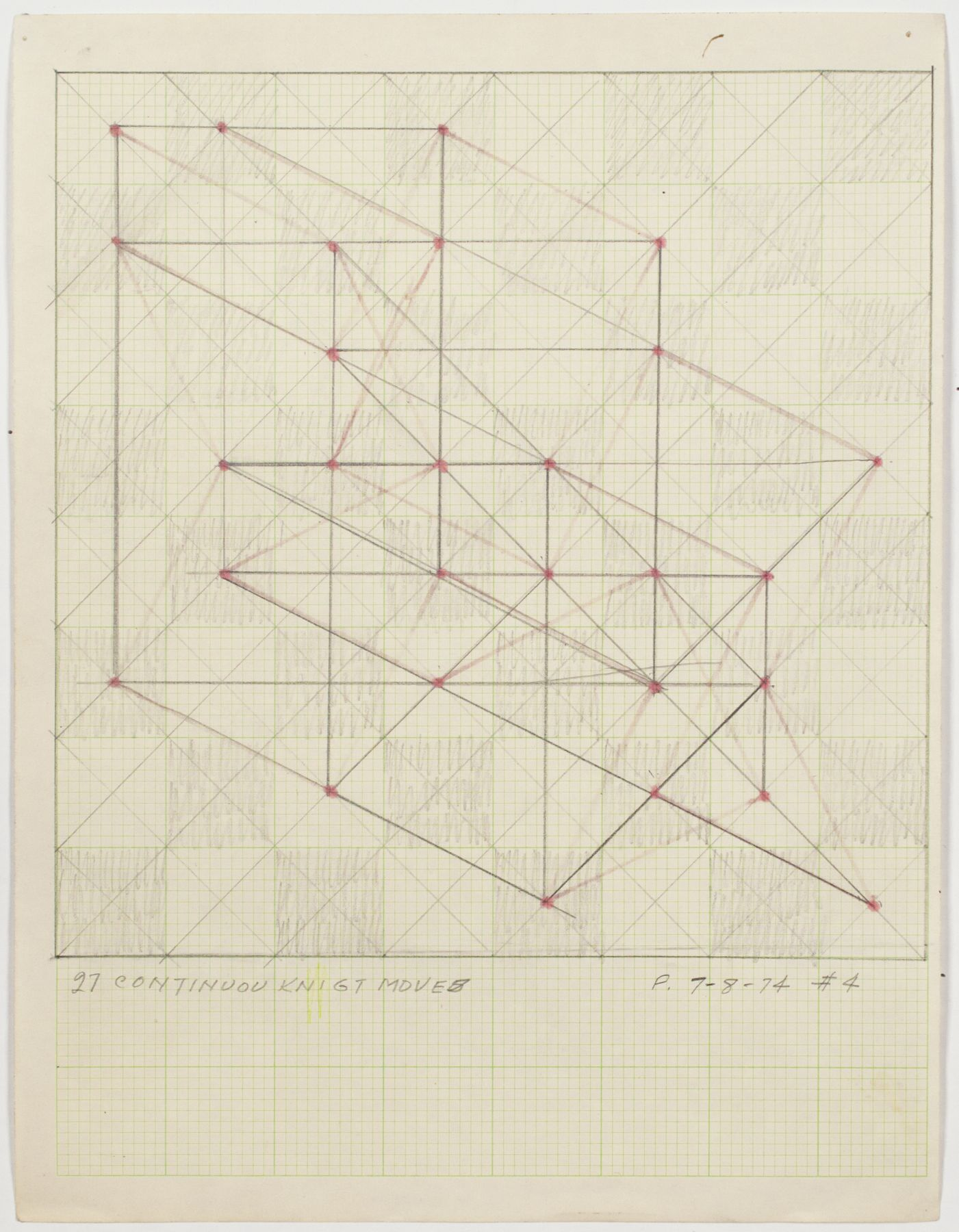 Jack Tworkov, 27 Continuous Knight Moves (PT 74 #4), 1974