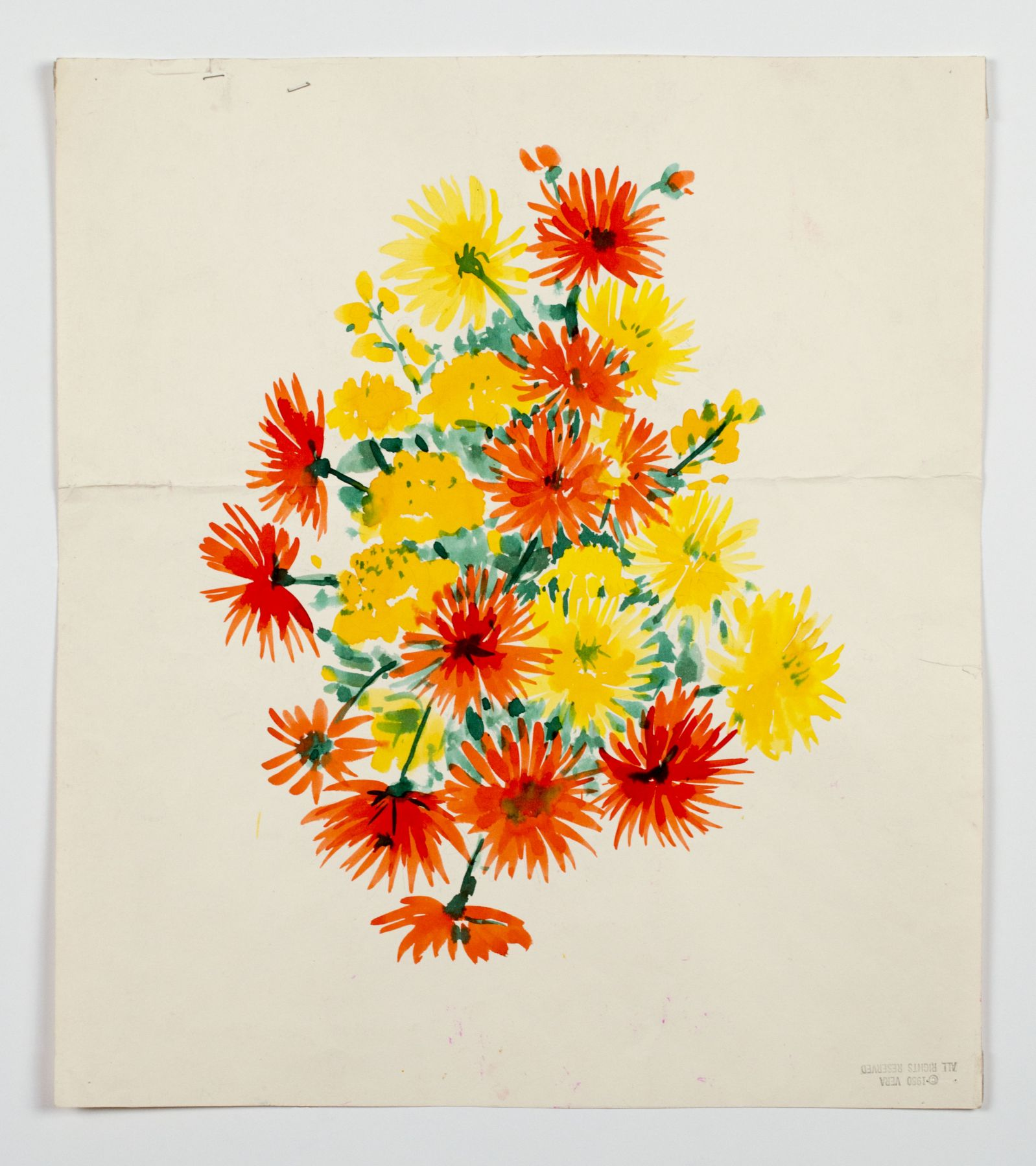"Untitled, from the ""Florals"" series, 1980, Watercolor on paper"